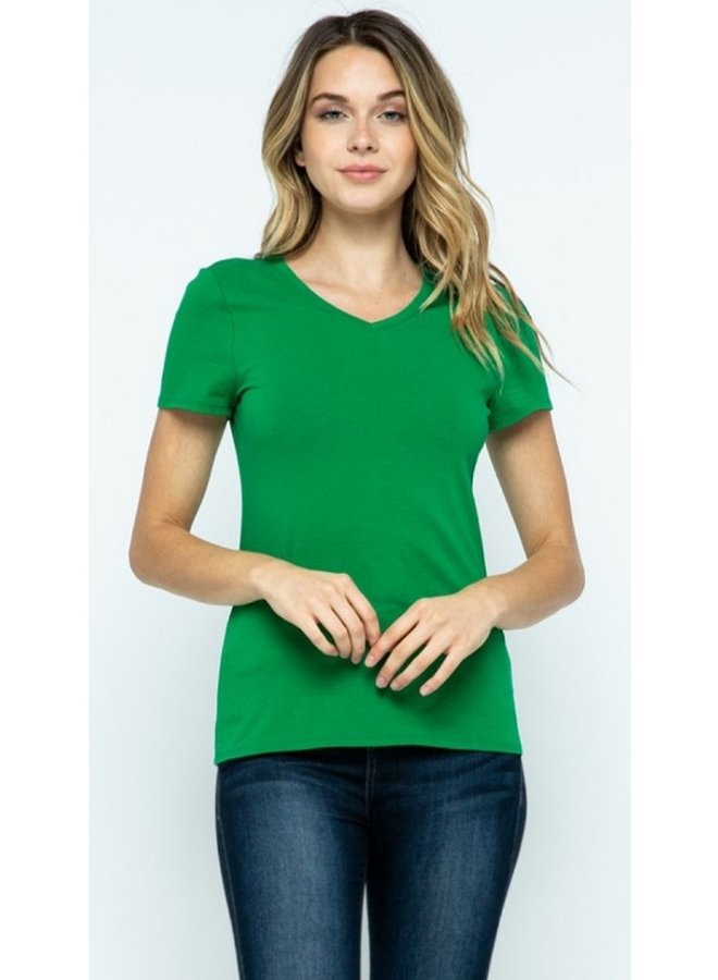 short sleeve v-neck t shirt
