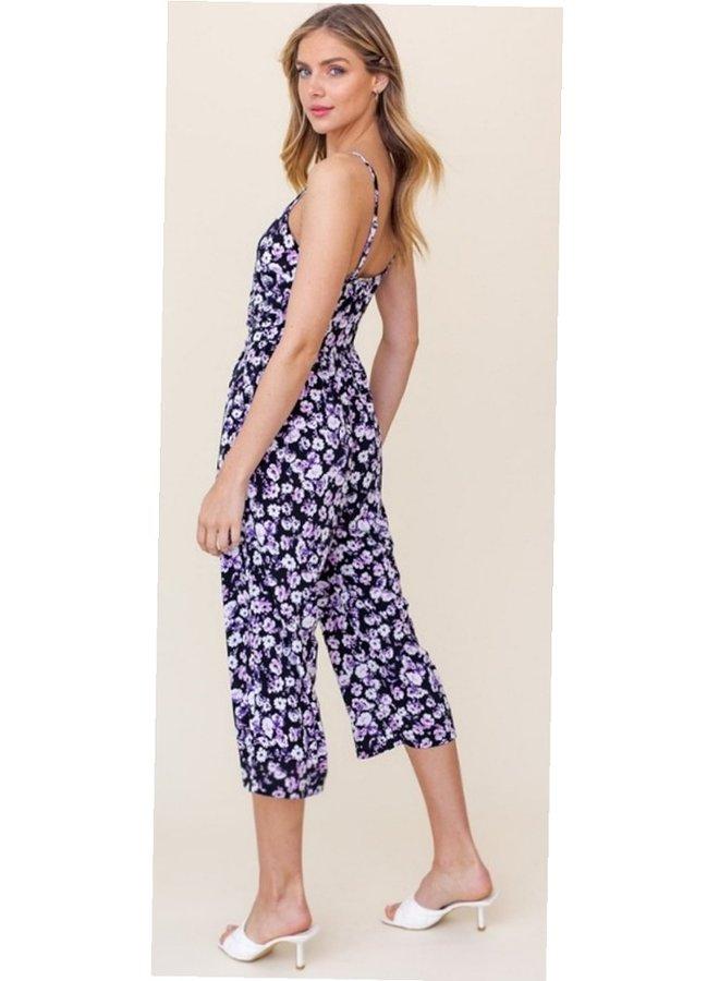black purple wrap jumpsuit