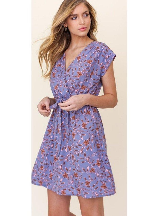 lavender floral dress