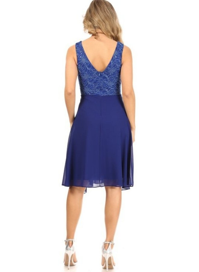 no sleeve lace party dress