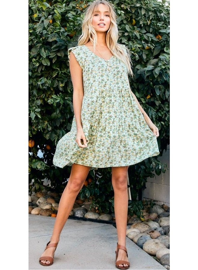 ditsy floral print dress