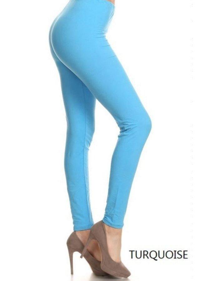leggings turquoise