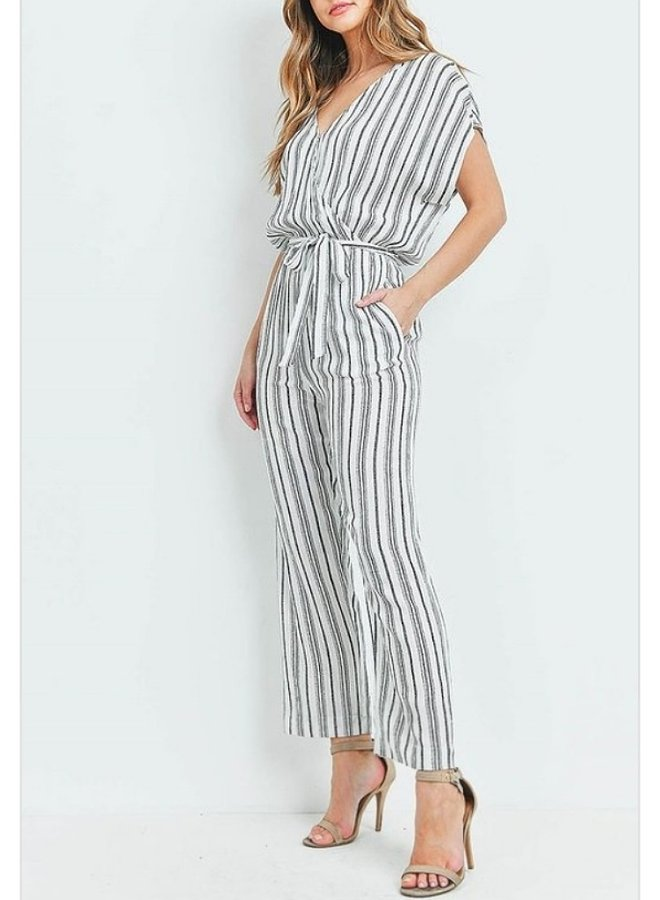 striped jumpsuit