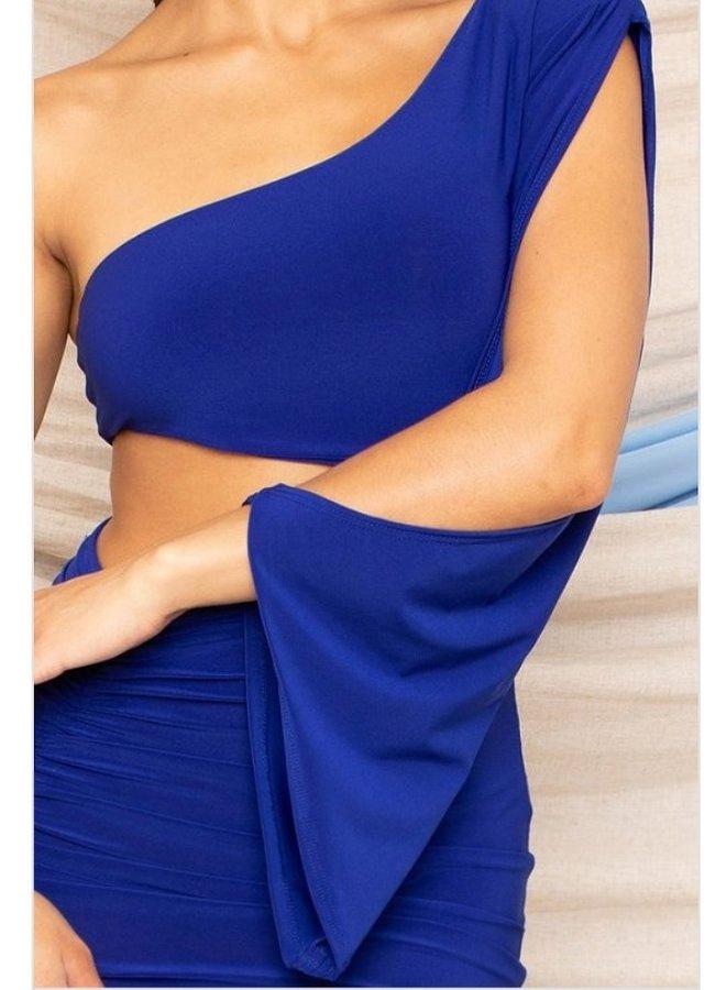 one shoulder mini dress