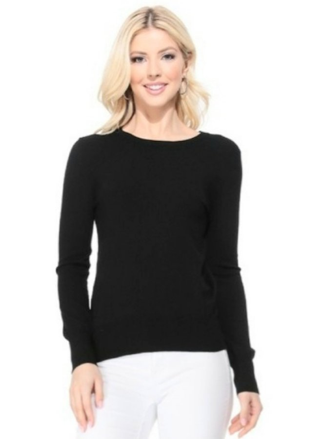 crew neck light basic sweater