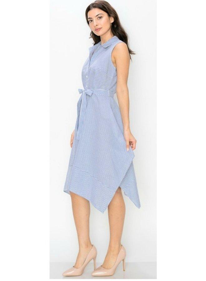 sleeveless button down dress