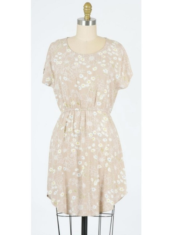 floral printed mini swing dress