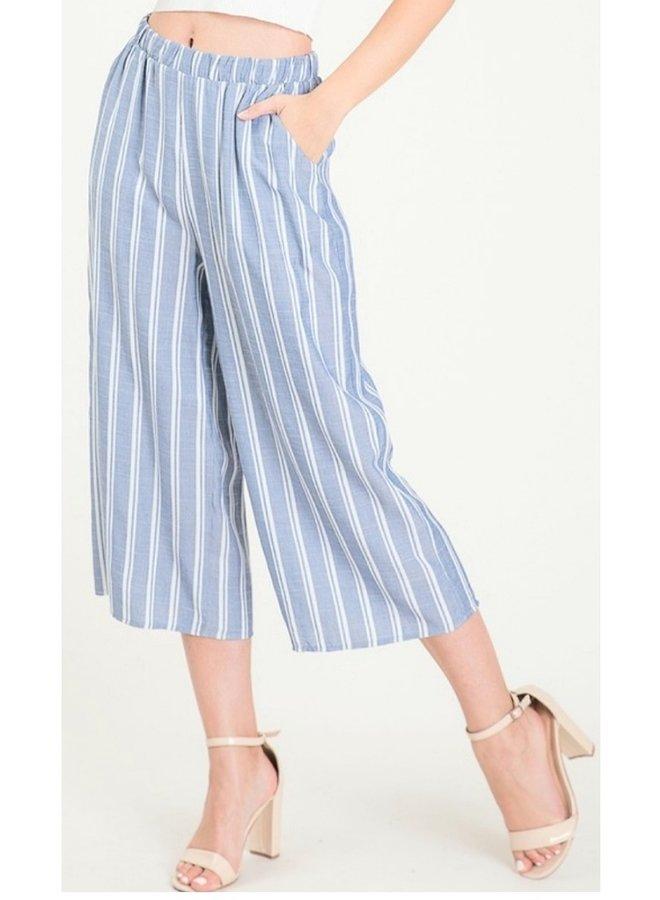 striped capri pant