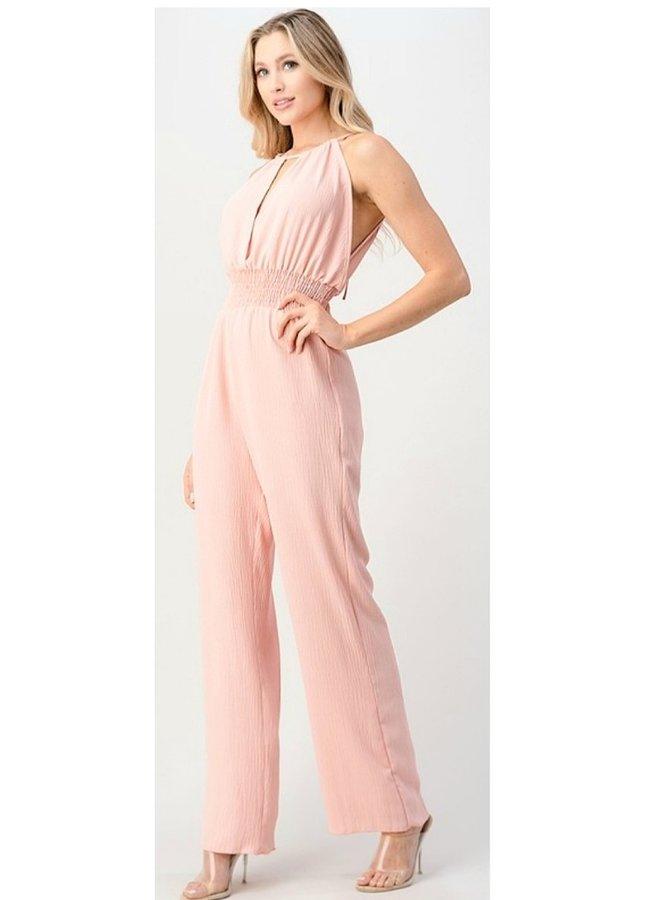 pink jumpsuit
