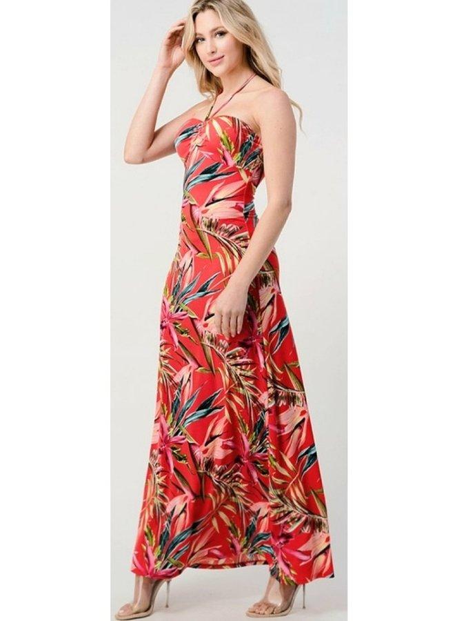 tropical long dress