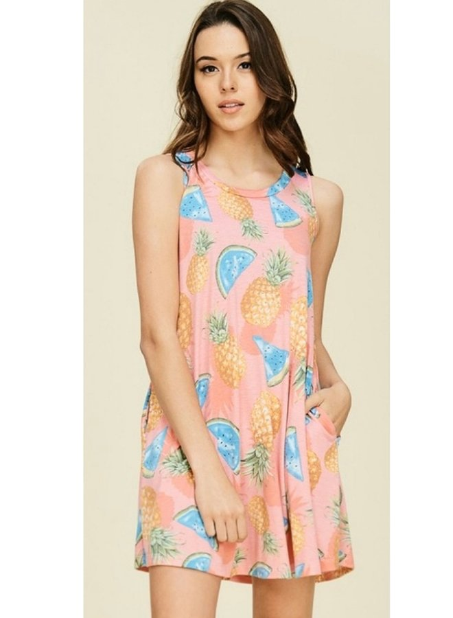 fruit print dress
