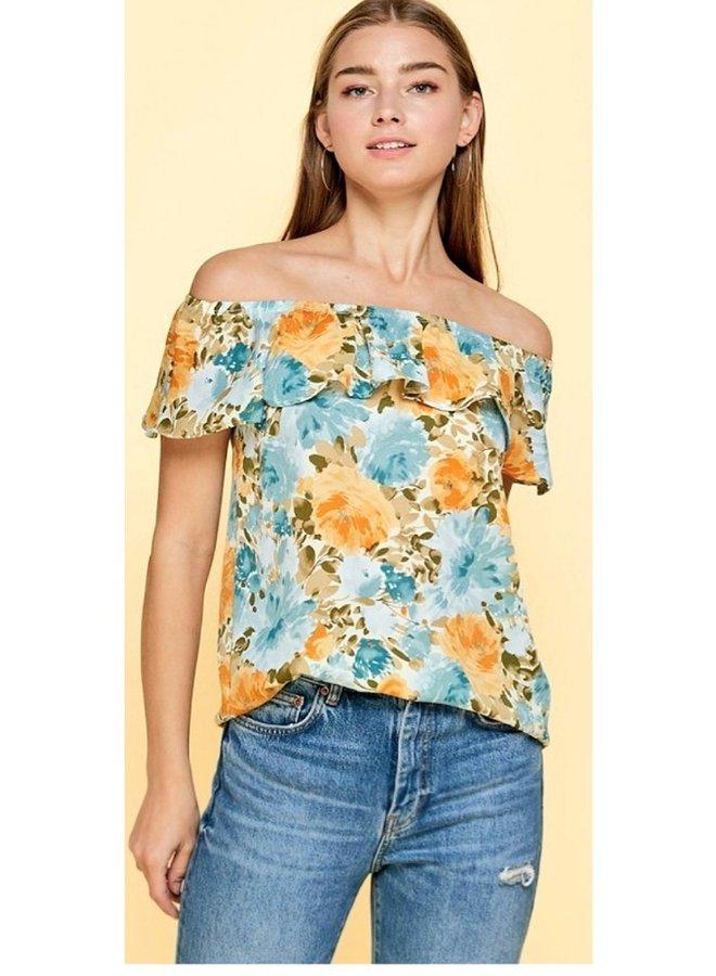 floral off shoulder top