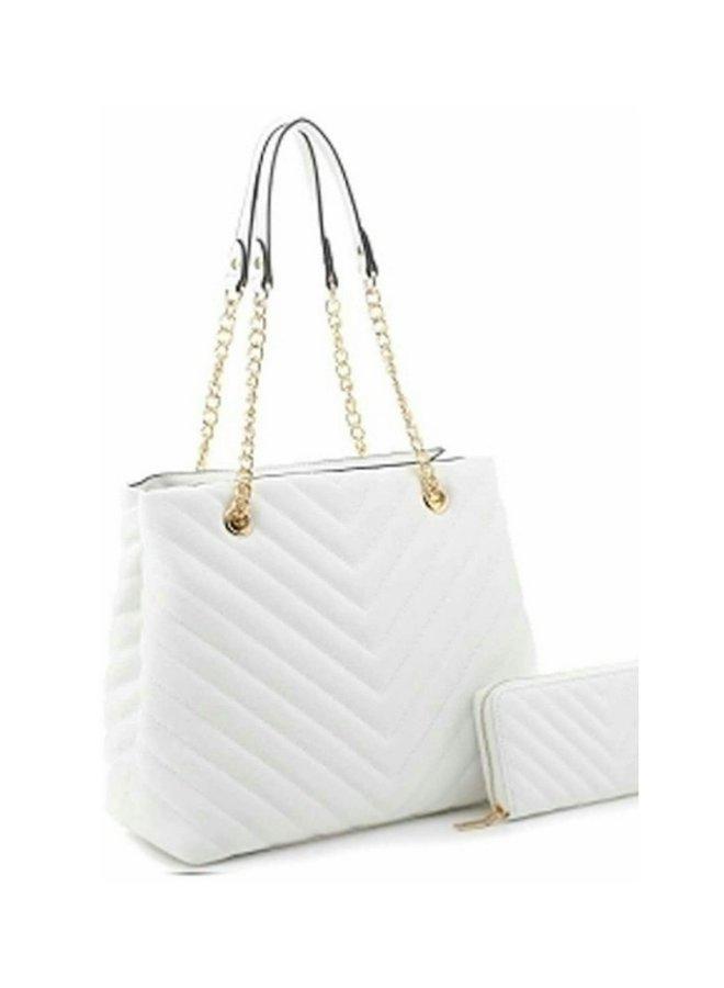 2 in 1 gold chain strap purse