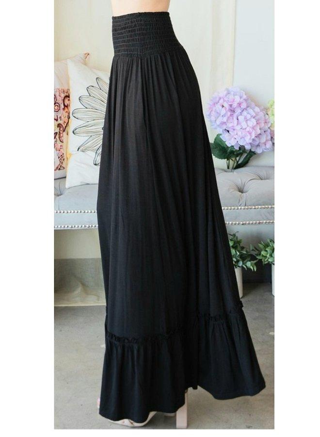 tier maxi skirt