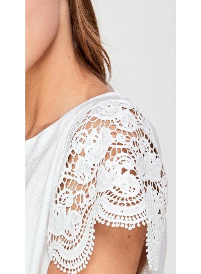 crochet sleeve blouse
