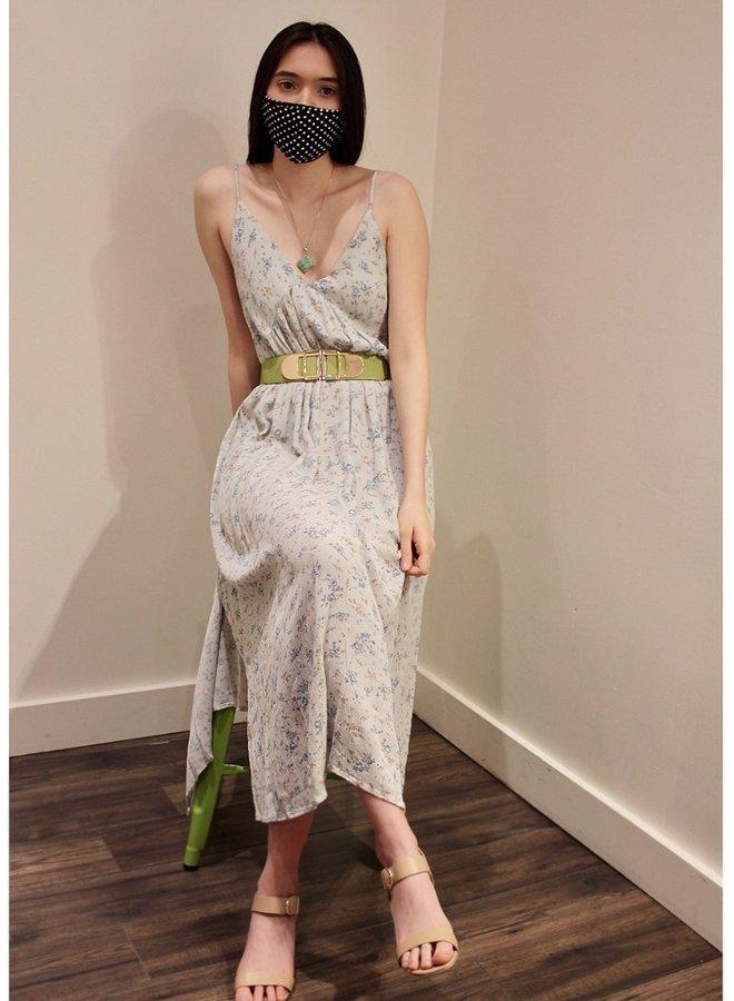floral printed gauze cami dress