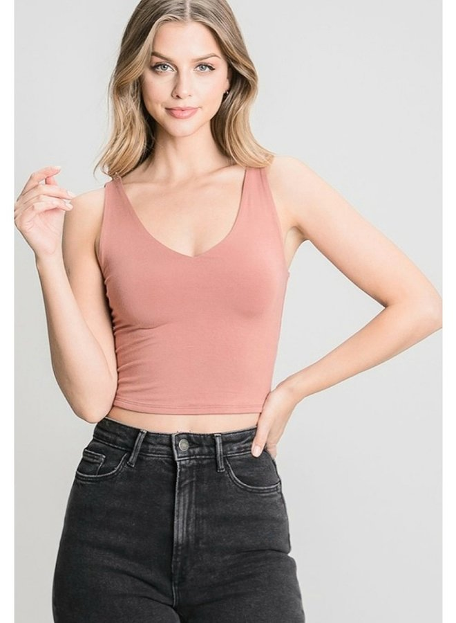 double layer rayon tank top