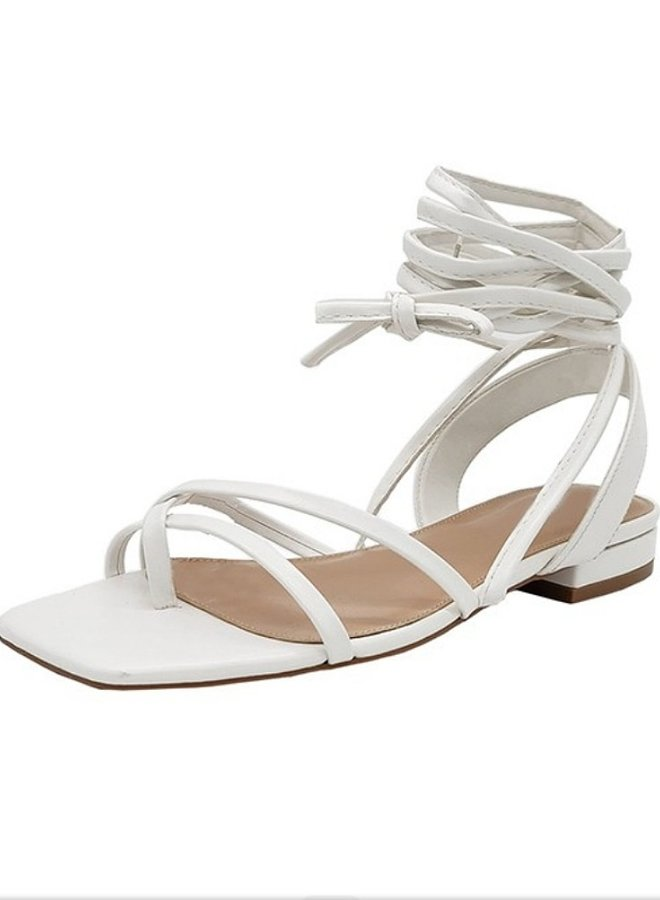Irene lace tie sandal