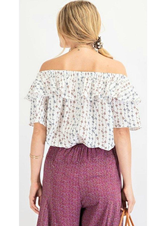 printed cotton blouse