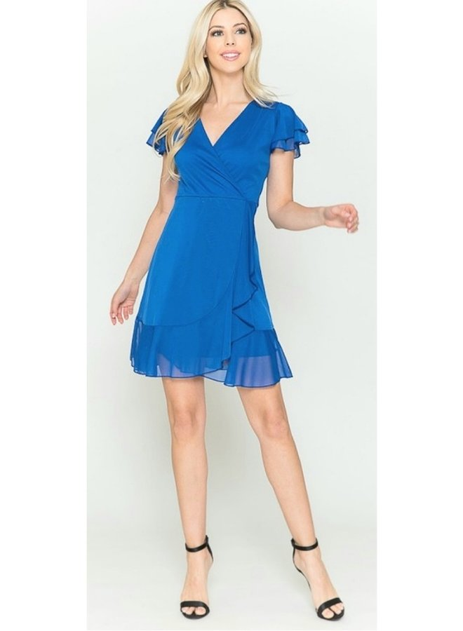 solid sheer dress with tie in back