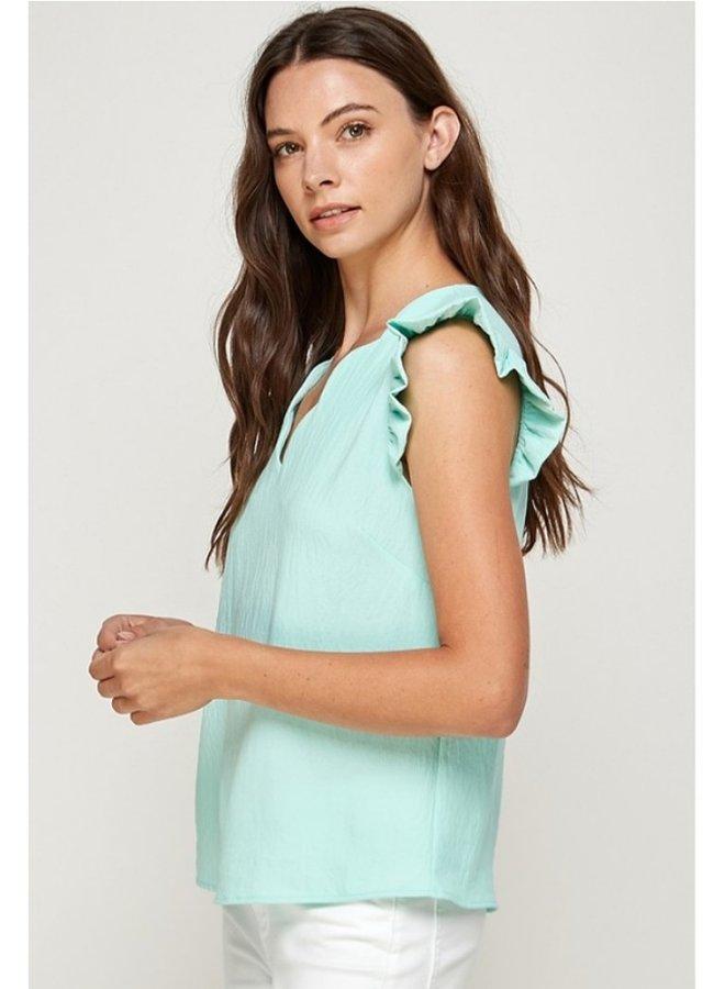 scallop neckline top