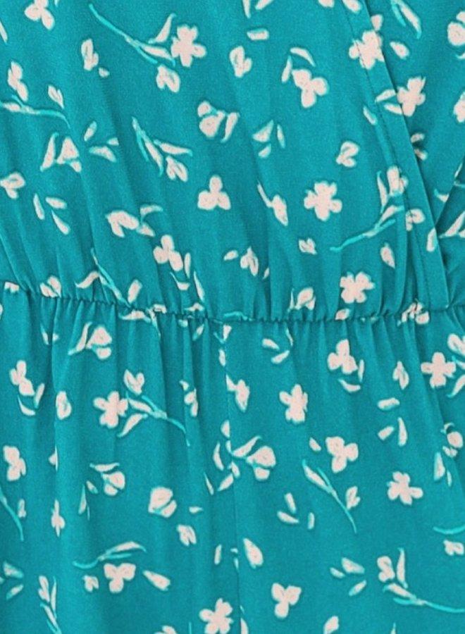 faux wrap jumpsuit