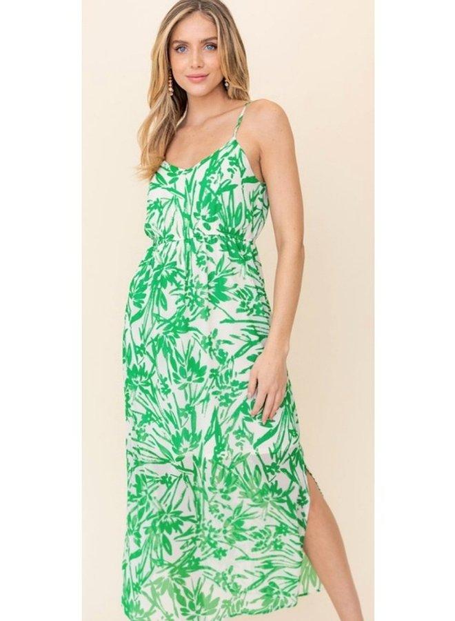 elastic waist maxi dress