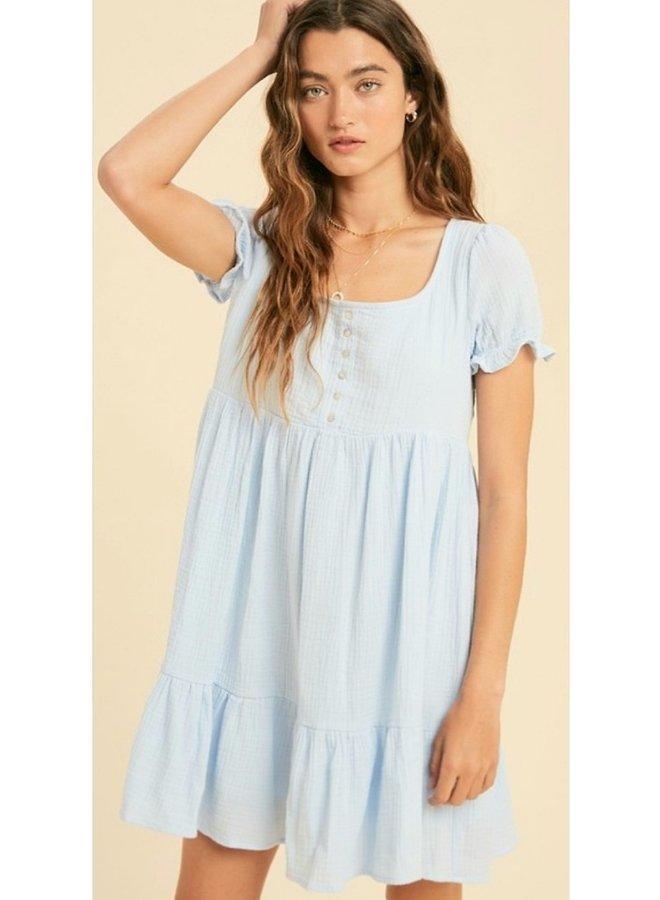 cotton guaze babydoll henly dress