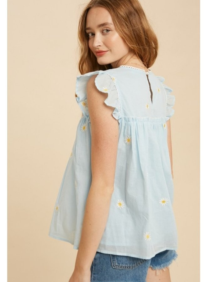 embroidered apron top