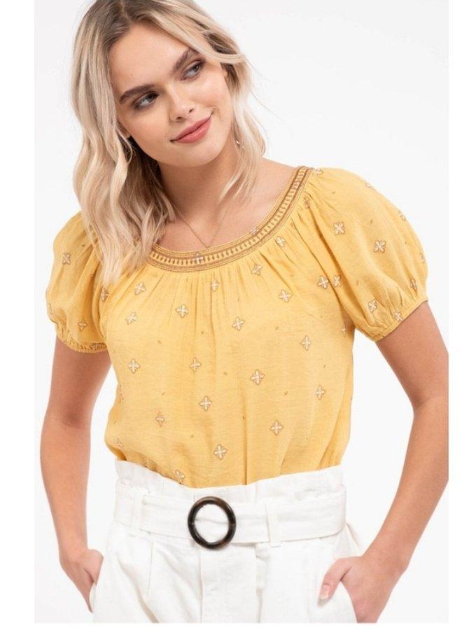 honey puff sleeve top
