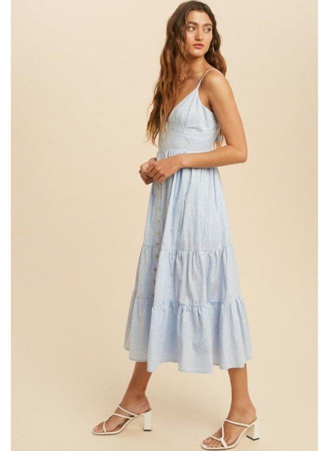 tiered ruffle sleeve dress