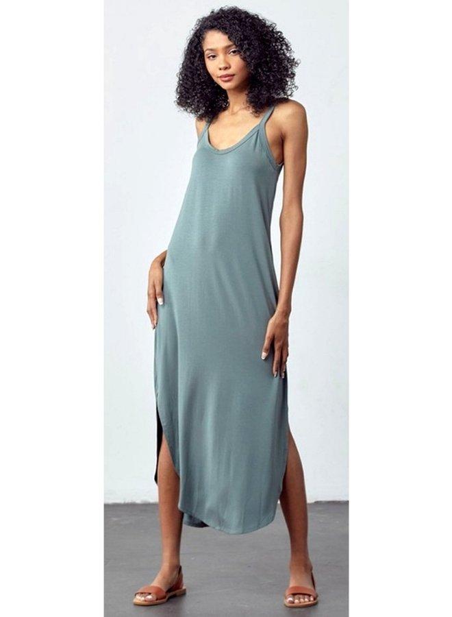 slouchy tank maxi dress