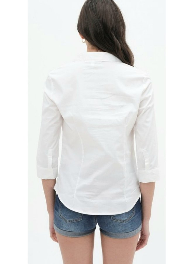button up work blouse