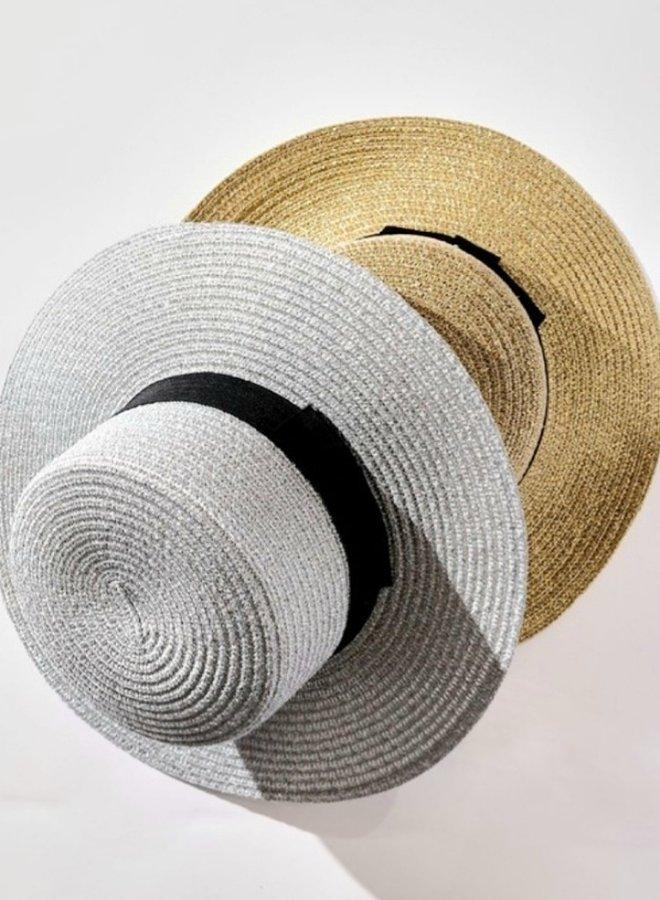metallic sun hat