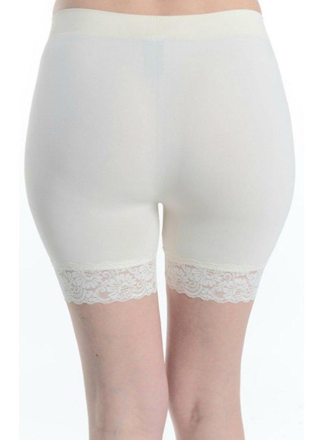 biking shorts with lace white