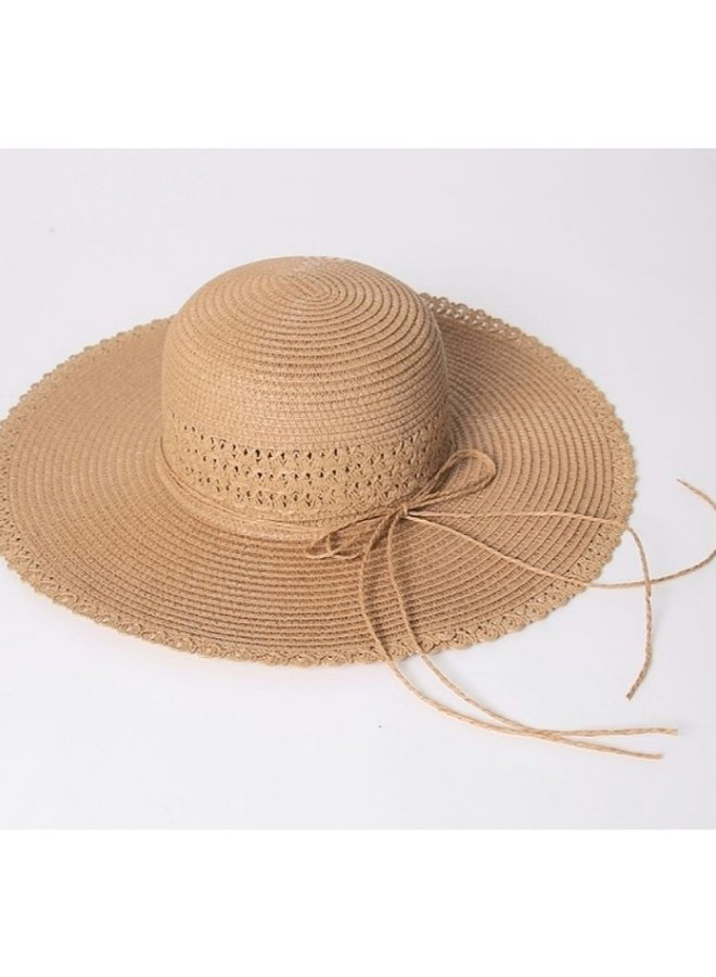 sun hat with bow