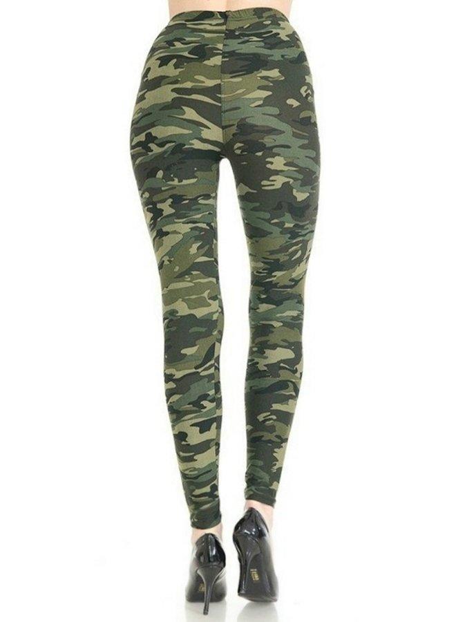 camo printed leggings