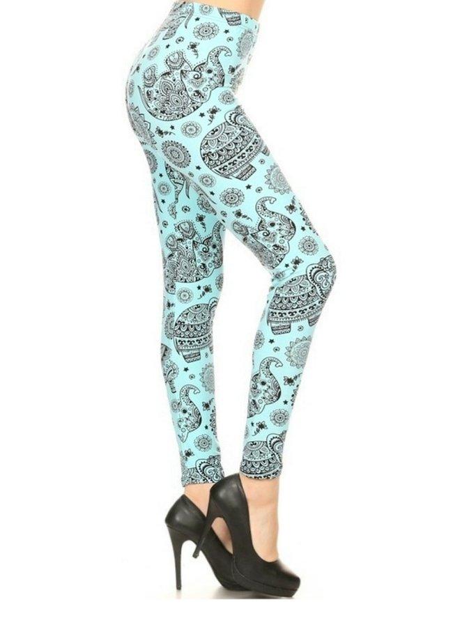 elephant printed leggings