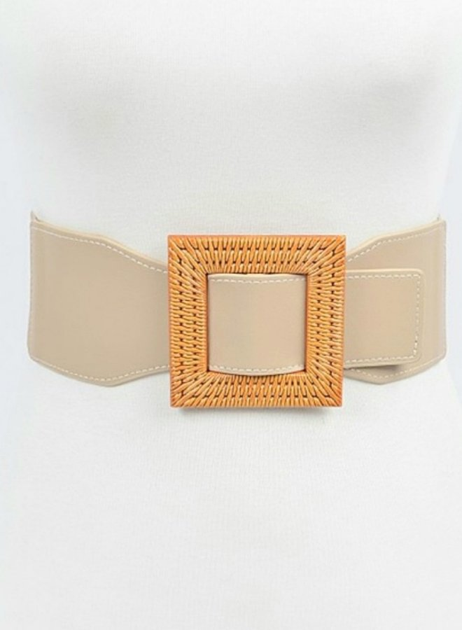faux wood handle belt
