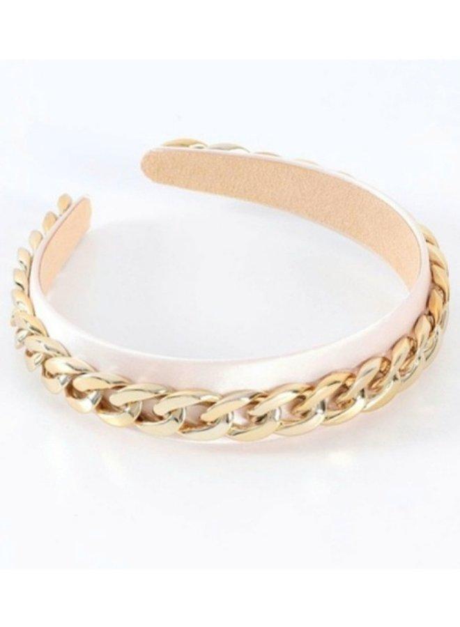 gold braid headband