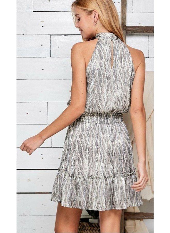 snakeskin halter dress