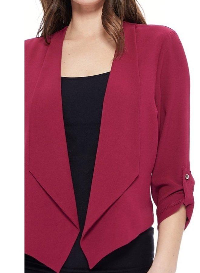 solid cropped blazer