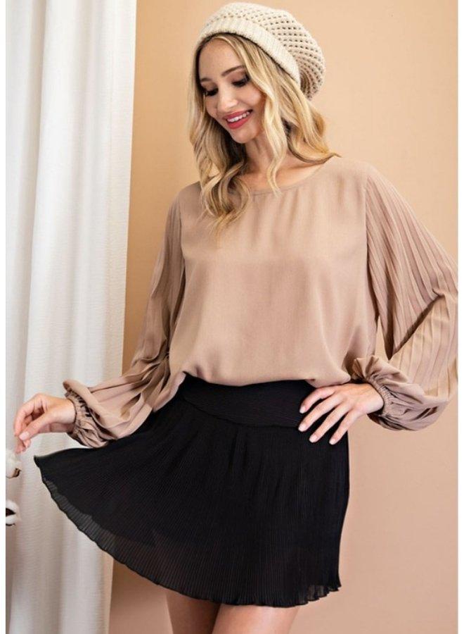 chiffon mini skirt/skorts