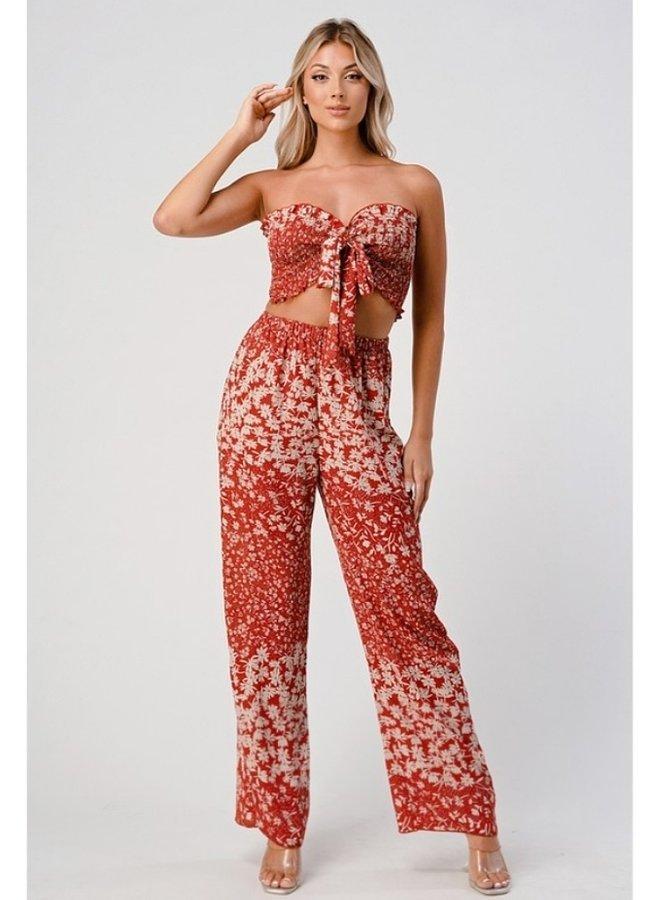 crop top pants set