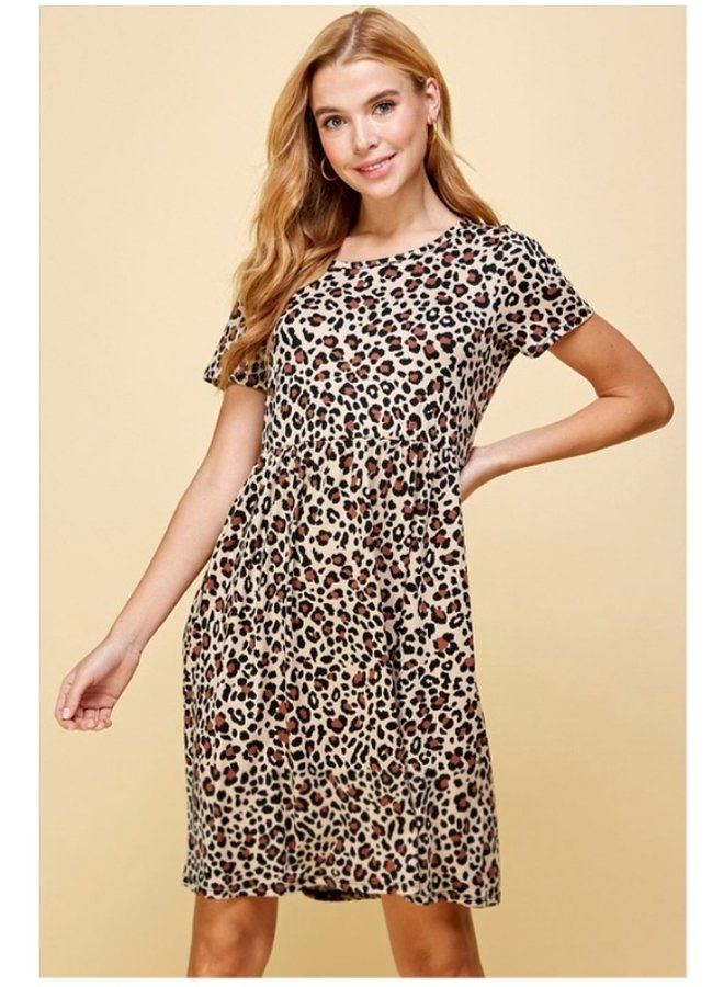 animal print soft dress