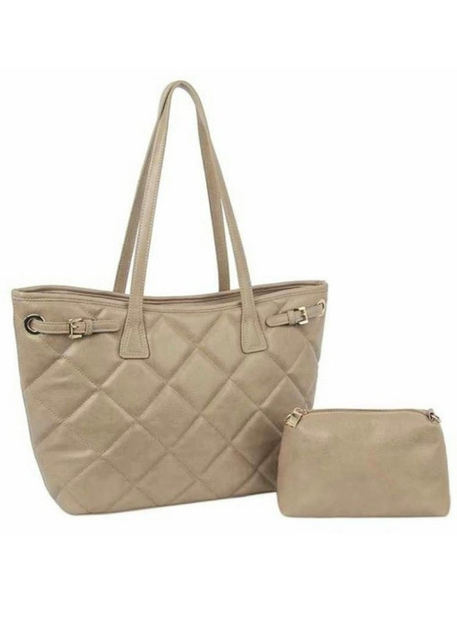 quilted purse stone