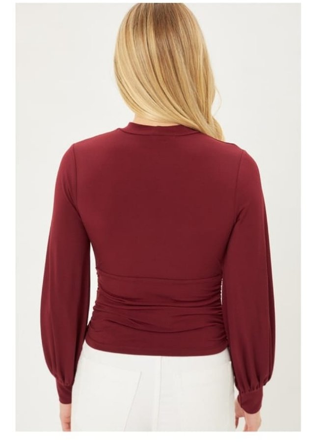 Form fitting blouse