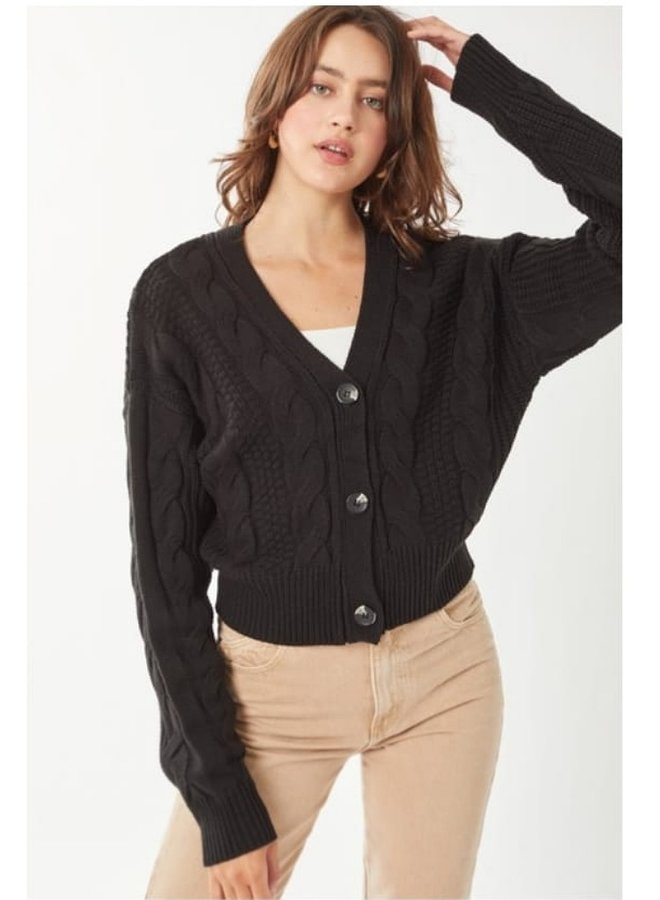 button front knitted cardigan