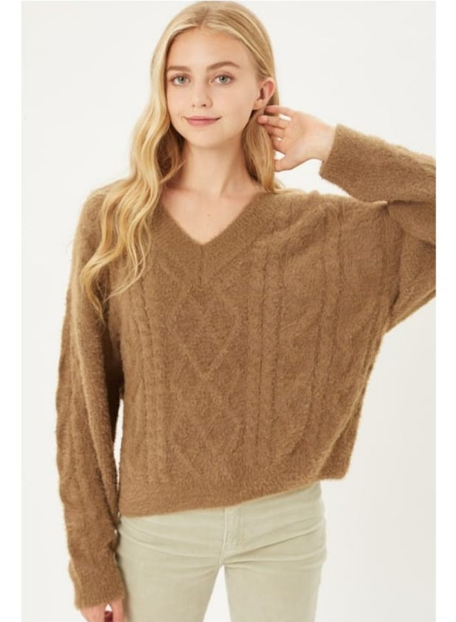 chunky V line sweater