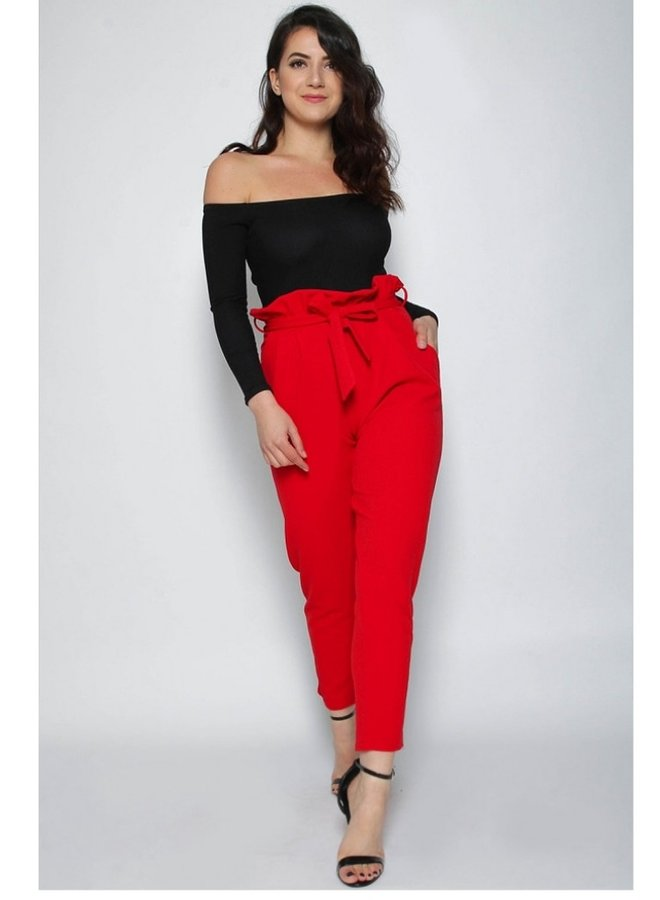 pleated cigarette trousers